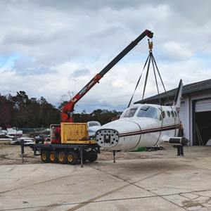 Florida Air Recovery Aircraft Recovery utilizes Specialized Lift Equipment to preserve evidence associated to crashed aircraft
