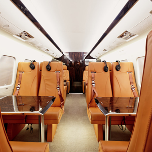 All types of Aircraft Interiors for private and general aviation aircraft